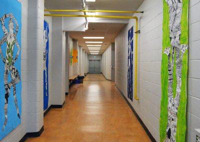 GFSS Fine Arts Hallway